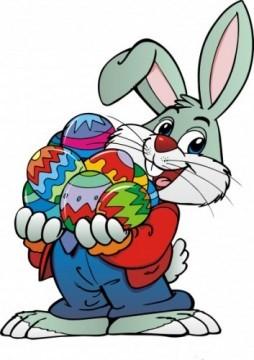 Obrázek zajíčka s vajíčkem