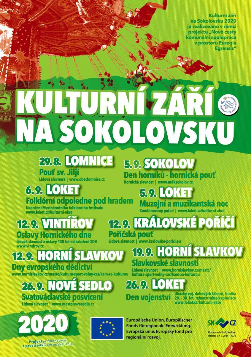 Plakát na kulturní září na Sokolovsku