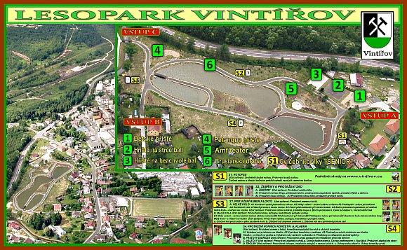 Lesopark - mapa