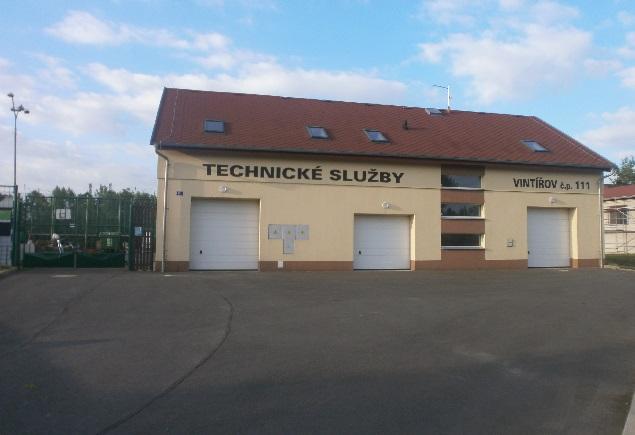 Sběrné místo v areálu technických služeb